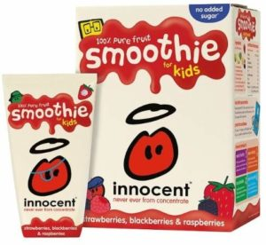 sugar in innocent kids smoothie